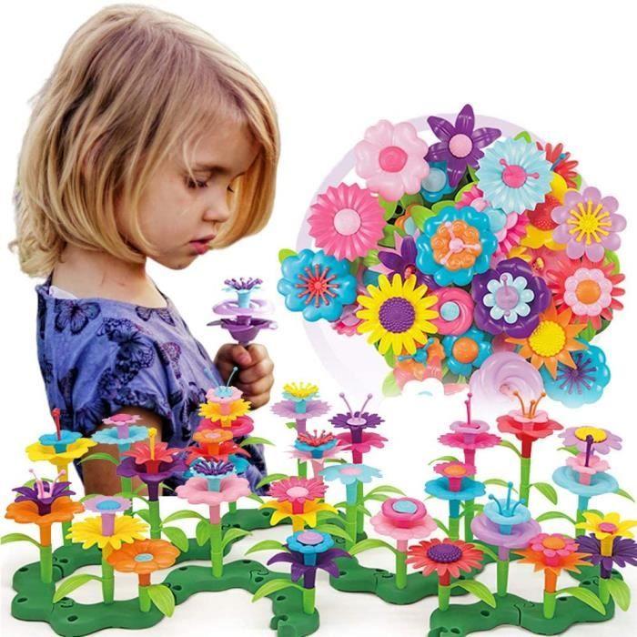 Jouets De Construction De Jardin De Fleurs Pour 3 4 5 6 Ans Filles Jouets Educatifs Jeux Creatifs Arts Et Artisanat Cadeaux Pour 3 Cdiscount Jeux Jouets