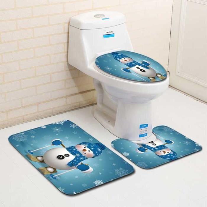 N A 1PCS Housse de Si/ège de Toilette Dessin Anim/é Tapis Cuvette de Toilette Peluche Couverture de Toilette Lavable Couleur Al/éatoire