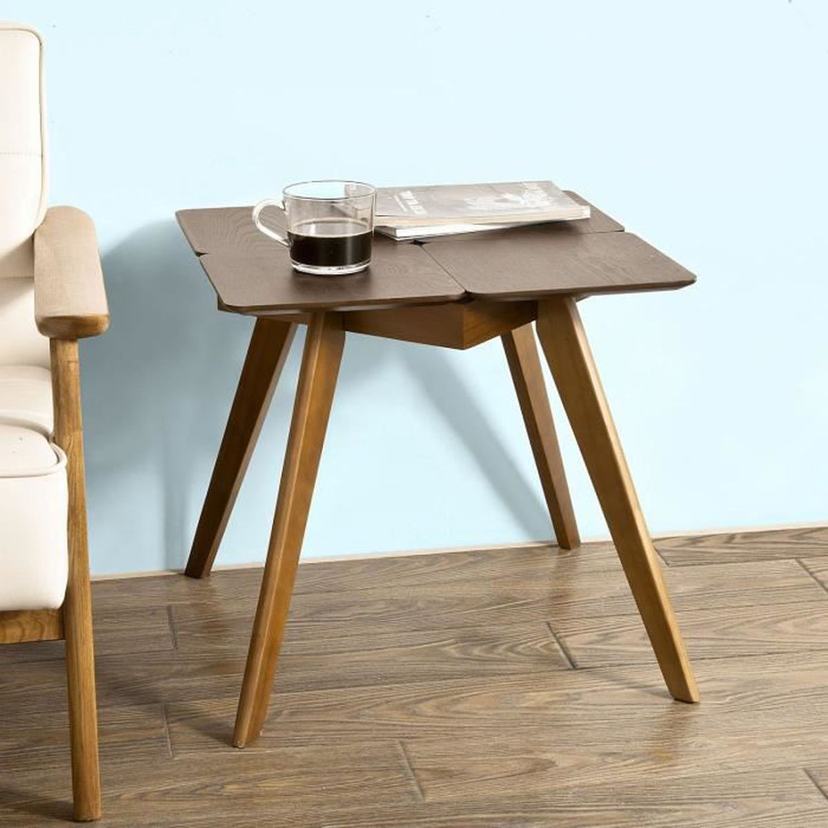table caf table de canap table basse 4 pieds achat vente console extensible table caf. Black Bedroom Furniture Sets. Home Design Ideas