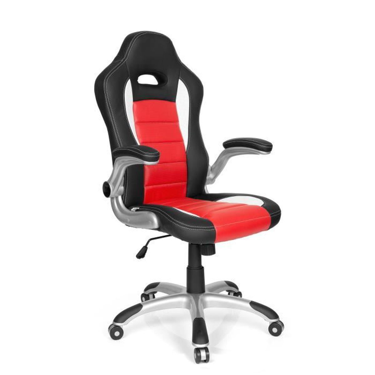 chaise gaming chaise de bureau racer sport rouge noir hjh office achat vente chaise de. Black Bedroom Furniture Sets. Home Design Ideas