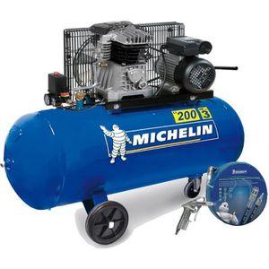 COMPRESSEUR Compresseur 200 Litres Michelin bicylindre équipé