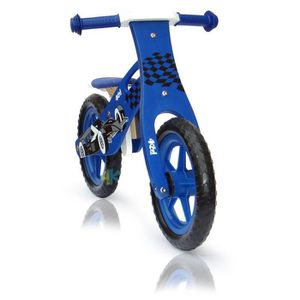 DRAISIENNE Draisienne bois garçon bleu motif karting