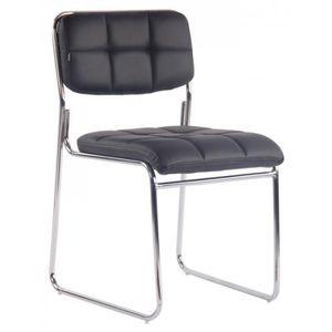 CHAISE Chaise visiteur bureau sans roulette rembourré en