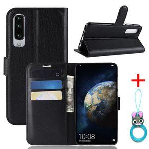 HOUSSE - ÉTUI Coque Huawei P30 Noir en PU Cuir avec protection a
