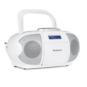 RADIO CD CASSETTE auna BeeBerry DAB Boombox Radio portable lecteur K