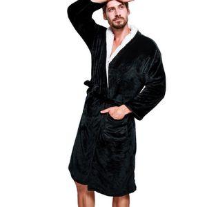 PEIGNOIR Noir L Peignoir de Bain Homme et Femme Robes de SP