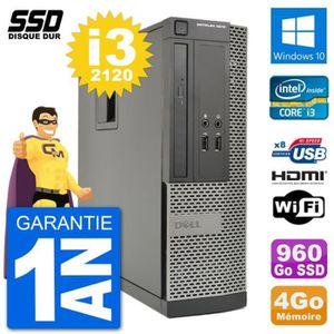 ORDI BUREAU RECONDITIONNÉ PC Dell OptiPlex 3010 SFF Intel i3-2120 RAM 4Go SS