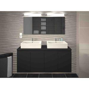 Meubles salle de bain double vasques avec colonne 120cm