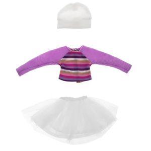POUPÉE POUPEE 1 vêtement BJD (pull + jupe + chapeau)
