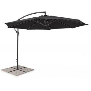PARASOL Parasol déporté en acier coloris Noir - Dim : Ø 30