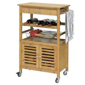 DESSERTE - BILLOT SoBuy® FKW53-N Desserte cuisine Table roulante en