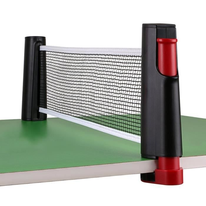 filet de tennis de table rétractable portatif, filet de ping pong à l'intérieur, 6 pieds (1.8m), s'adapte aux tables 1RKKAK