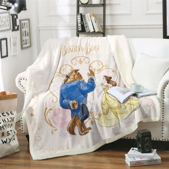 Version 150x200cm - Dessin Animé Couverture Belle Et Bête Literie Sherpa Couvertures Enfants Cadeau #42