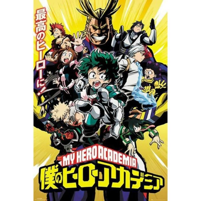 Poster My Hero Academia - Groupe - roulé filmé (91.5x61) - ABYstyle
