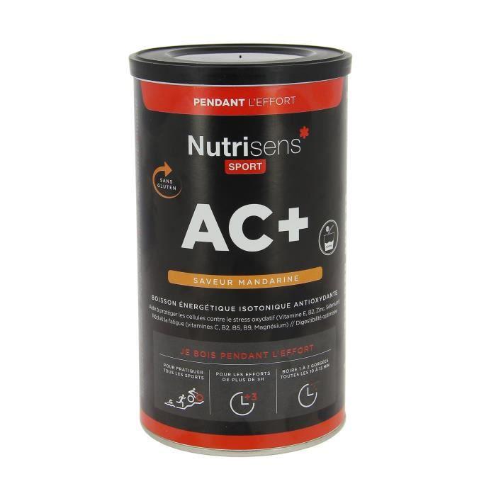 NUTRISENS Complément alimentaire - Pot de 500g pour préparation de boisson énergétique AC+ - Mandarine