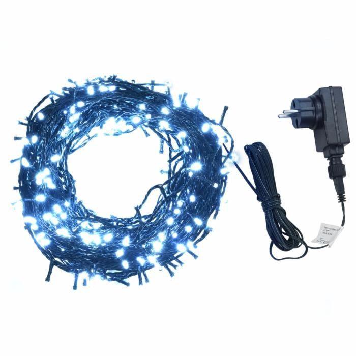 Guirlande lumineuse Sapin de Noël- 400 LED Intérieur et extérieur 40 m Blanc froid