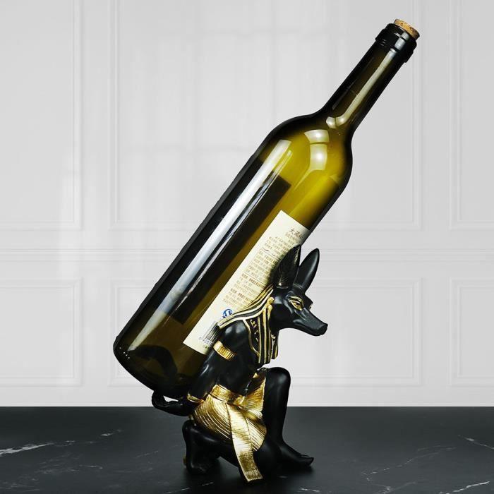 Casier à vin résine résine dieu Anubis statue chien égyptien miniature sculpture bureau à domicile décoration d'intérieur