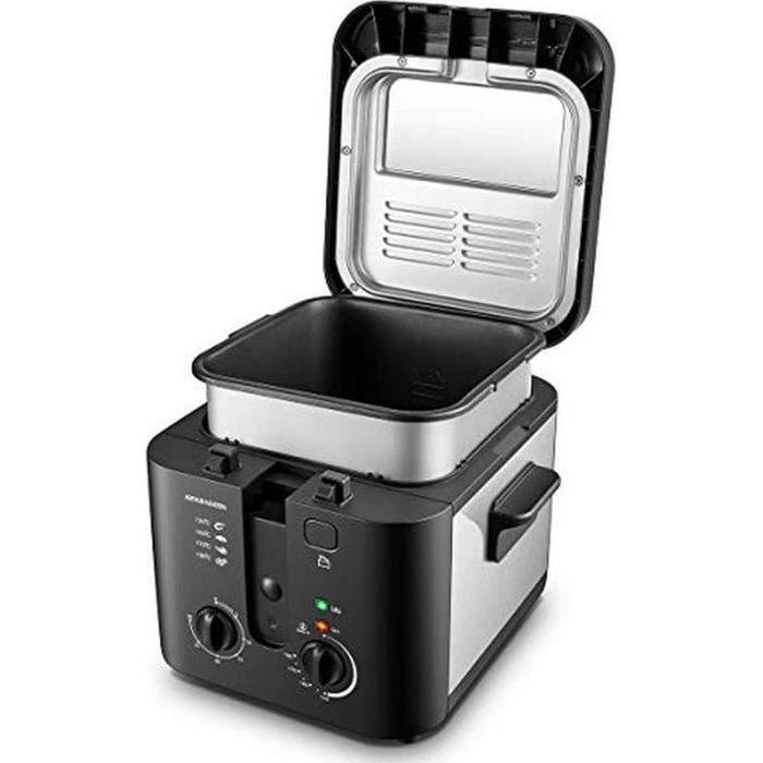 FRITEUSE Arthur Martin AMP132 1600W 25L pour 1Kg de Frites Capot et cuve Amovibles paroi 1 Kilogram Noir ET INOX13