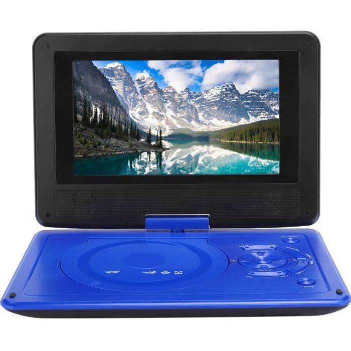lecteur DVD de voiture portable Lecteur DVD de voiture à écran pivotant haute définition portable de 9,8 pouces VCD CD AVI