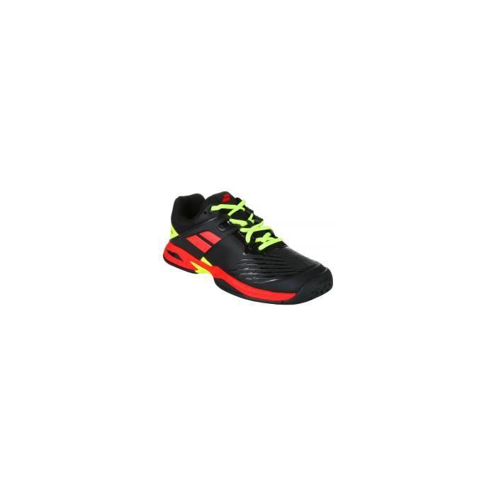 Chaussures BABOLAT Garçon CUD Propulse All Court Junior Noir/Roug/Fuo lAH 2018 32