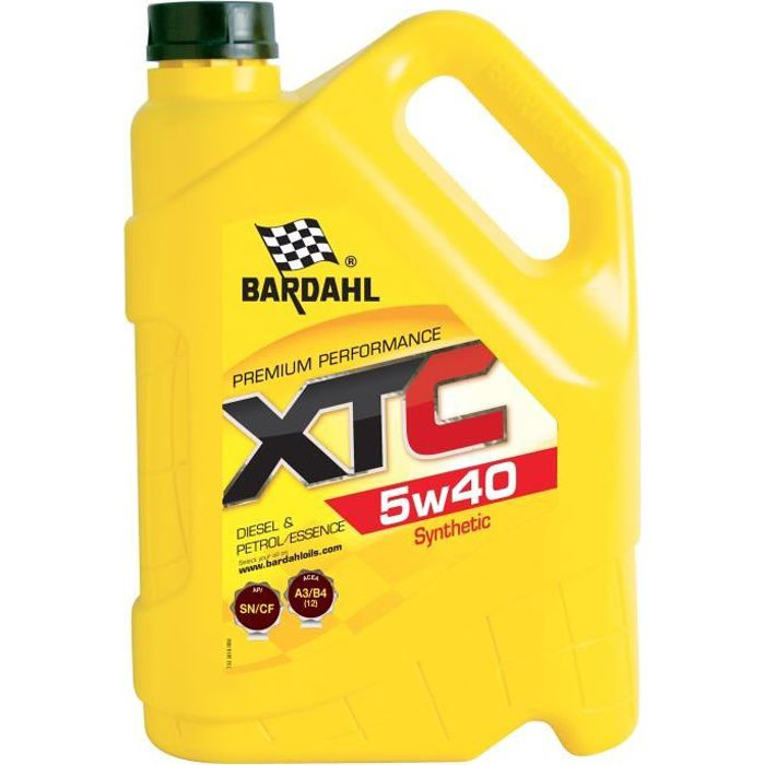 BARDAHL Huile moteur XTC 5W40 - Bidon de 5 L