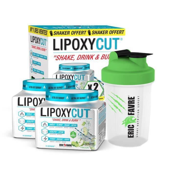 Coffret Lipoxycut Vegan - 2 LIPOXYCUT & 1 SHAKER OFFERTS à l'intérieur de ce coffret - Brûleur De Graisses