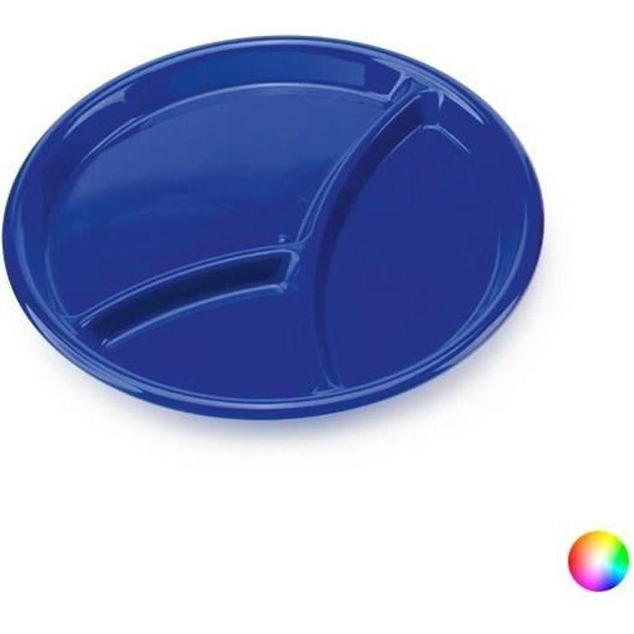 Assiette à 3 compartiments - Assiette pour enfant Couleur - Bleu