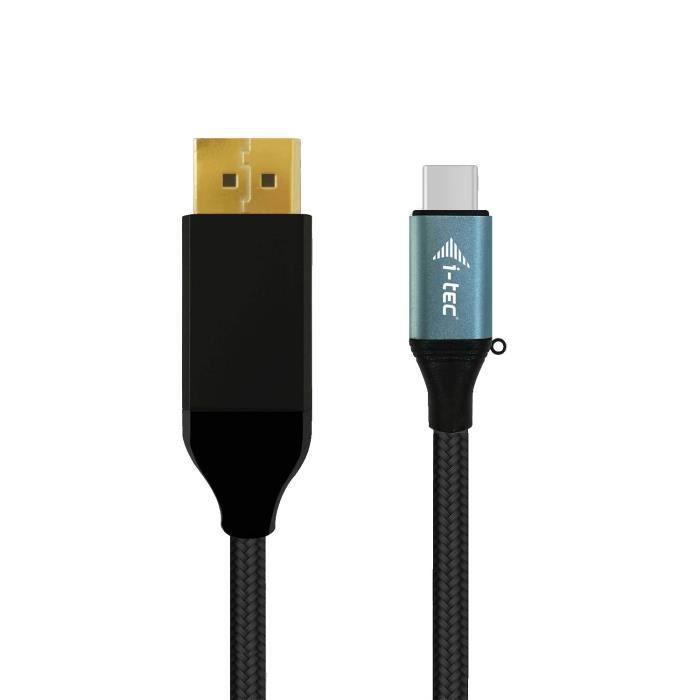 I Tec Câble A/V 1,50 m Displayport/Thunderbolt 3 pour Périphérique audio/vidéo, Ordinateur Portable, Tablette, Smartphone, Pc