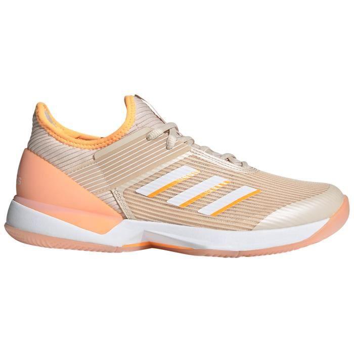 Chaussures Femme adidas adiZero Ubersonic 3 pour femmes, court de tennis, beige