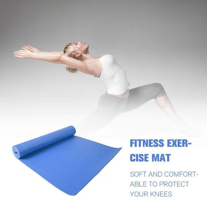 tapis de yoga antidérapants pour des exercices de fitness pour débutants bLEU