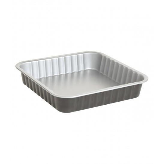 Plat à four carré en métal 24 x 24 cm Secret de Gourmet