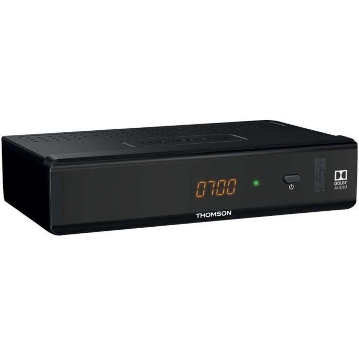 THOMSON THT 741 Décodeur TNT Full HD -DVB-T2 - Compatible HEVC265 - Récepteur/Tuner TV avec fonction enregistreur (HDMI, Péritel, US
