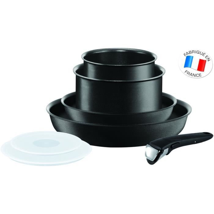 Ingenio Performance Noir Batterie de cuisine 7 Pièces Tous Feux Dont Induction L6548302