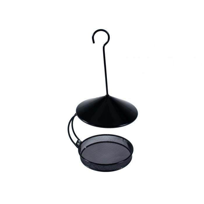 Mangeoire Besie noir à suspendre. ø 18 cm H 22.5 cm. pour oiseaux.-Vadigran 20,000000 Noir