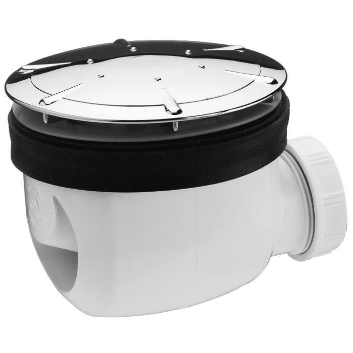 WIRQUIN Bonde de douche Twisto - Ø 90 mm - Dôme en ABS chromé