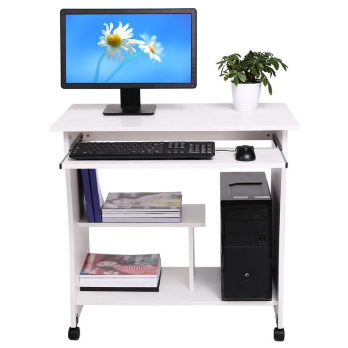 80cm bureau informatique table d ordinateur pr clavier tablette achat vente meuble. Black Bedroom Furniture Sets. Home Design Ideas