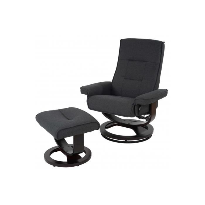 Fauteuil relax president tissu anthracite achat vente fauteuil cdiscount - Cdiscount fauteuil relax ...
