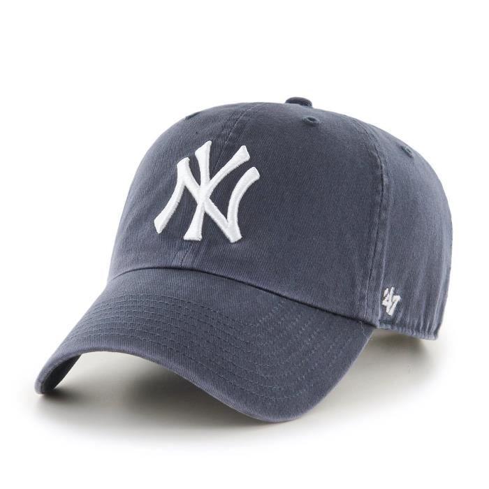 47 Brand Casquette Clean Up New York Yankees Jaune