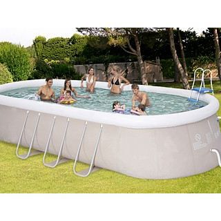 Kit piscine autoportante o 39 blue achat - Piscine autoportante ovale ...