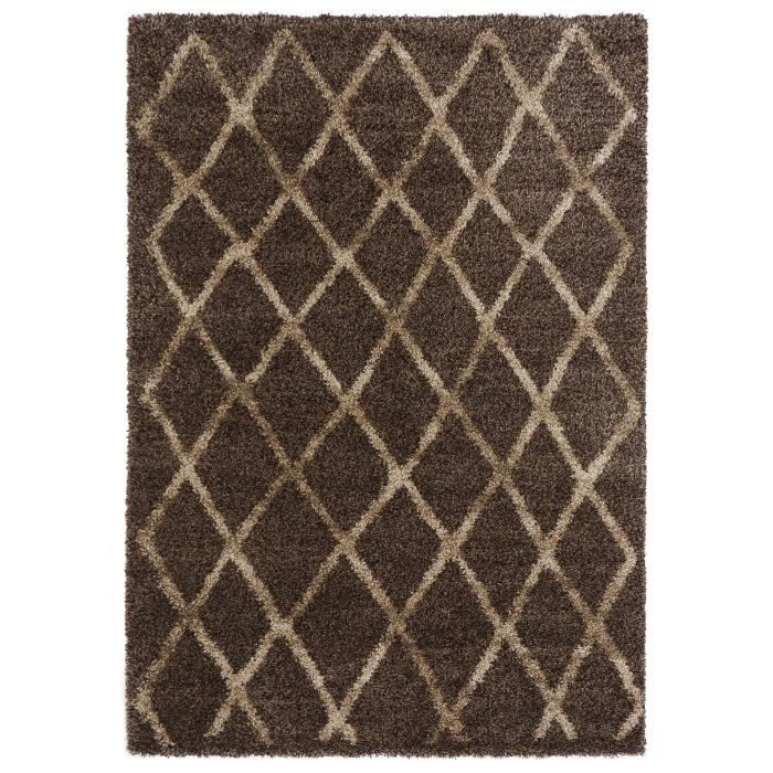 benuta tapis poils longs ethnic marron 160x23 achat vente tapis cdiscount. Black Bedroom Furniture Sets. Home Design Ideas