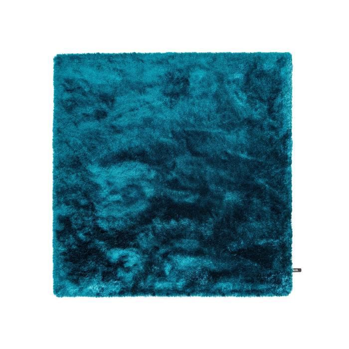 benuta tapis poils longs whisper turquoise 150x150 cm. Black Bedroom Furniture Sets. Home Design Ideas
