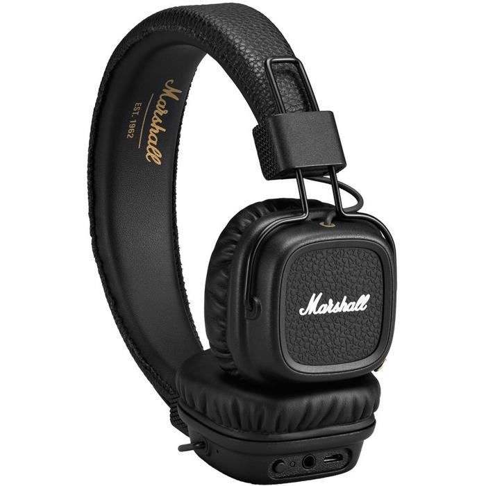 marshall major ii casque audio bluetooth noir casque. Black Bedroom Furniture Sets. Home Design Ideas