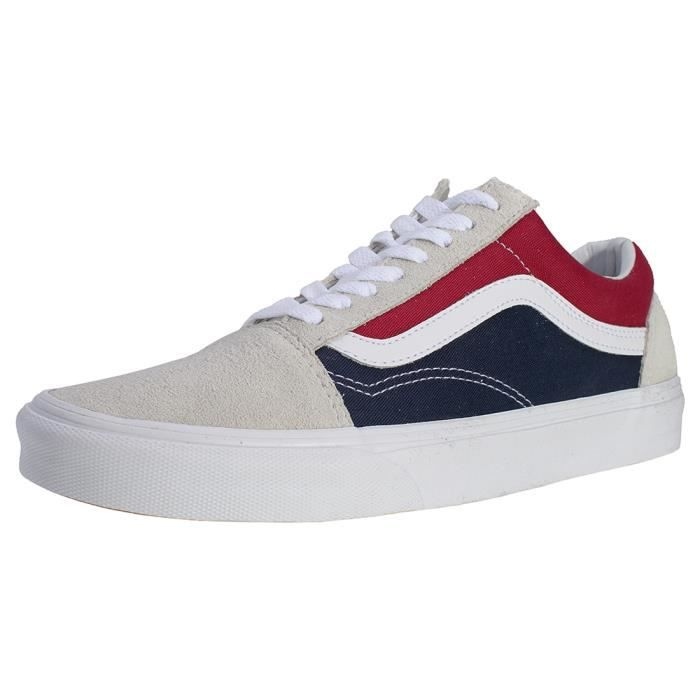 Vans Old Skool Retro Hommes Baskets Blanc Bleu Rouge - 7 UK ...