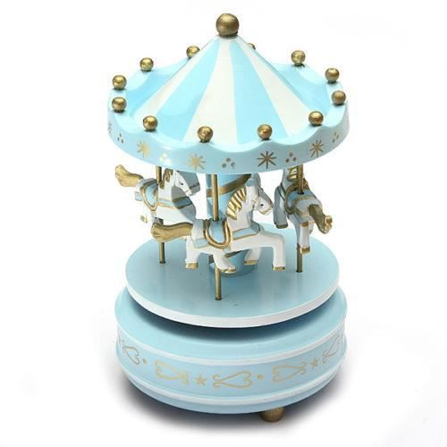 manege chevaux musical bois carrousel boite a musique. Black Bedroom Furniture Sets. Home Design Ideas