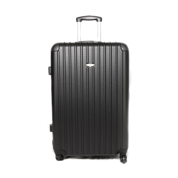 valise trolley 4 roues 70cm noir achat vente valise bagage 2009929979631 cdiscount. Black Bedroom Furniture Sets. Home Design Ideas
