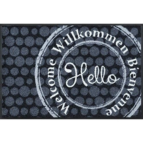 Wash dry 068631 welcome stamp tapis nylon caoutchouc for Tapis cuisine wash and dry