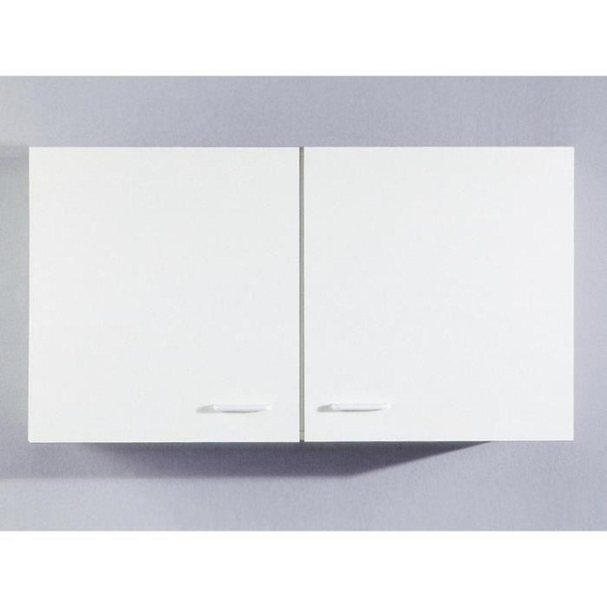 Meuble haut de cuisine Tupi 12 cm Blanc - Achat / Vente éléments
