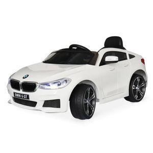 VOITURE ELECTRIQUE ENFANT BMW Série 6 GT Gran Turismo blanche, voiture élect
