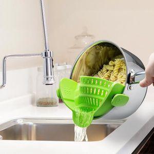 Pâtes Passoire Passoire clip sur pot Silicone Passoire à Légumes s/'adapte à tous les pots