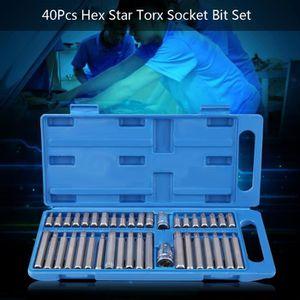 40pc 3//8 /& 1//2 pouces lecteur adaptateur Hex Spline /& Star Tournevis Bit Set